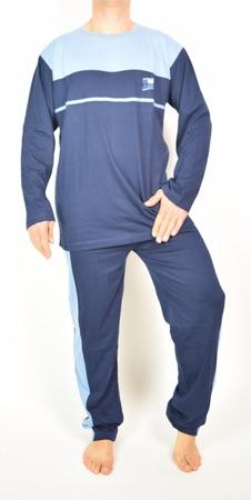 Piżama Męska Bawełniana Granatowo Niebieska Bello