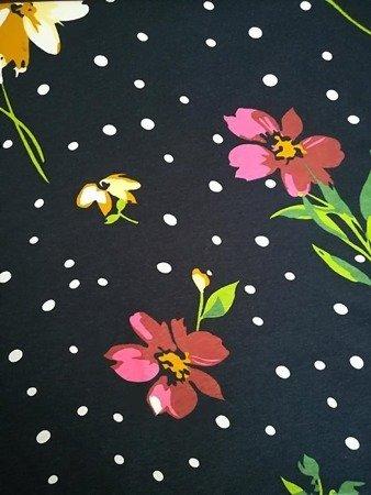Sukienka Plażowa Bawełna AMARYLEK I KROPKI L
