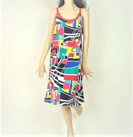 Sukienka Plażowa Bawełna GEOMETRIA 1XL