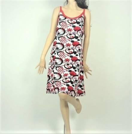 Sukienka Plażowa Bawełna KÓŁKA KROPKI L
