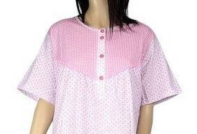 koszula nocna tradycyjna kr. ręk. KRATECZKA RÓŻ