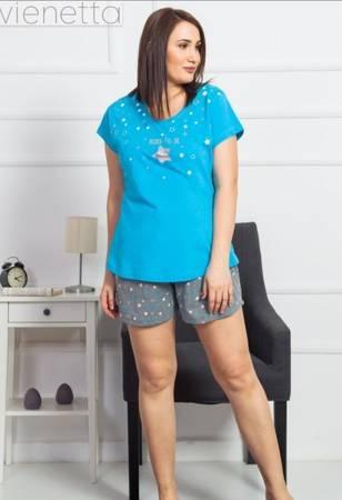 piżama damska GWIAZDA niebieski/popielaty 3XL/50