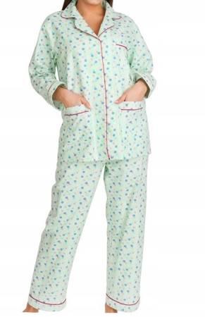 piżama damska tradycyjna FLANELOWA SELEDYN M-XXXL