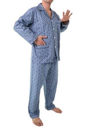 piżama męska flanelowa ODCIENIE JEANSU M-5XL