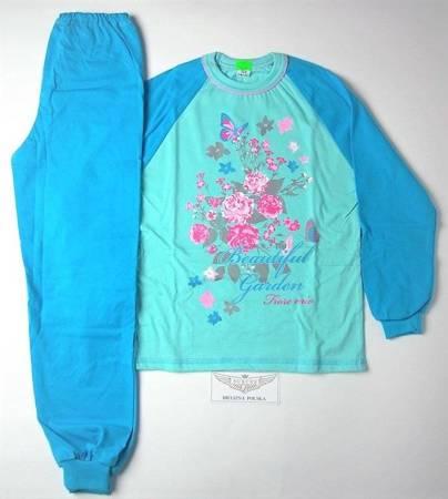 piżamka dziewczęca OCIEPLANA TURKUS  86 cm-158 cm