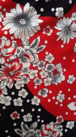 sukienka plażowa BUKIETY KROPKI MARINE S-3XL